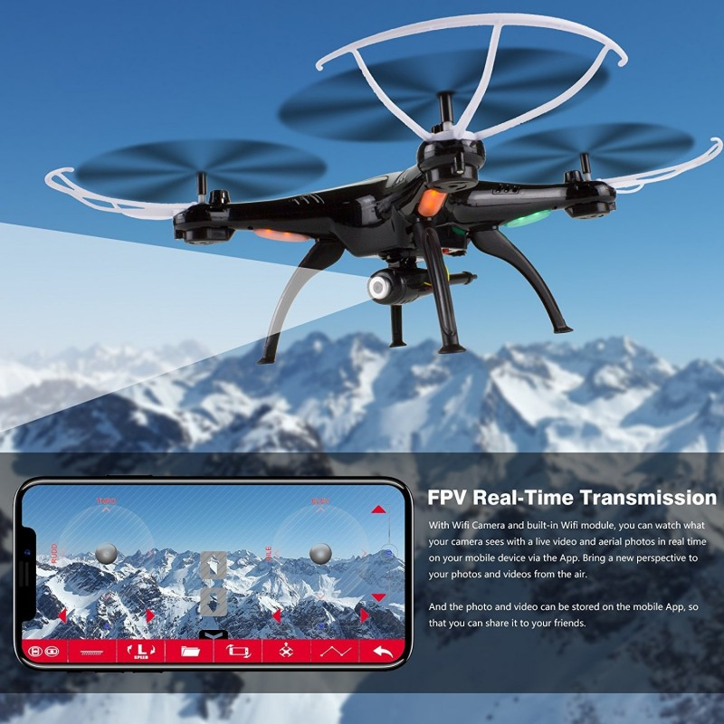Cheerwing Syma X5SW-V3 WiFi FPV Drone 2 4Ghz Quadcopter RC Drone with  Camera for Kids and Beginners