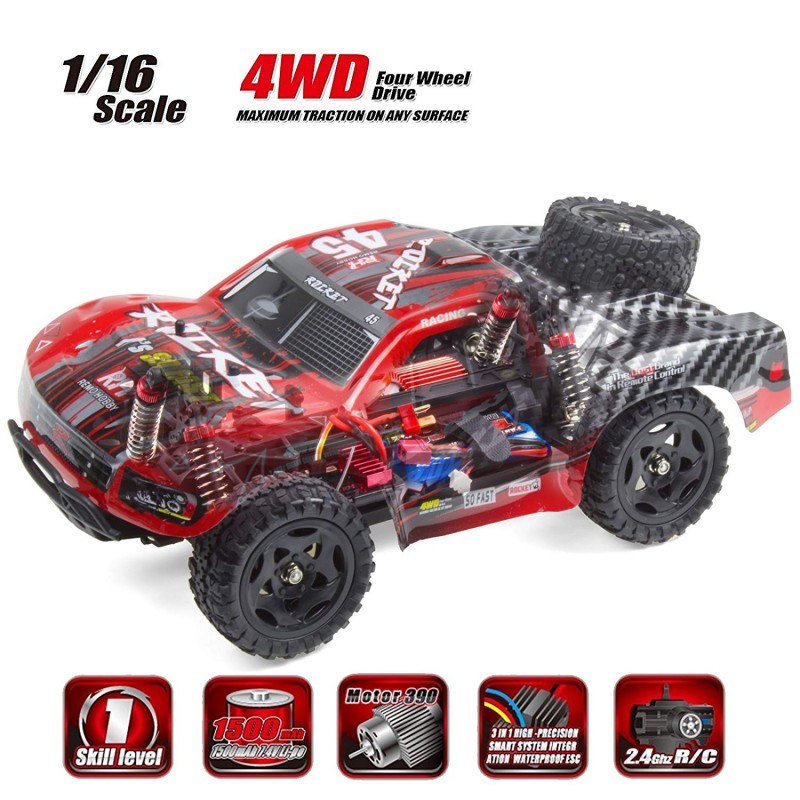 Cheerwing REMO Rocket RC Truck 1:16 2 4Ghz 4WD Remote Control Car High  Speed Off-road Short Course Truck